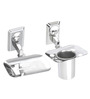Osian Glossy Stainless Steel 2-piece Bathroom Accessories Set (Model: O-67)