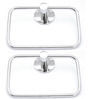 Osian Glossy Stainless Steel Towel Ring - Set of 2