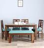 Fallon Six Seater Dining Set in Provincial Teak Finish by Woodsworth