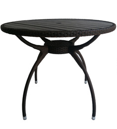 Outdoor Table in Black Colour by Suvika Lifestyles
