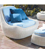 Outdoor Casual Seater Set with Side Table in Capuccino Brown by GEBE