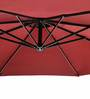 Outdoor Luxury Side Pole Patio Umbrella in Maroon by Adapt Affairs