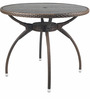 Outdoor Round Table in Dark Brown Colour by Ventura