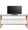 Owen Modern Entertainment Unit in Brown & White Colour by Asian Arts