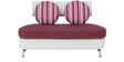 Oxford Two Seater Sofa in Magenta Colour by Furnitech