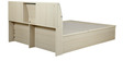 Oyester Queen Bed with Hydraulic Storage in Oak Finish by HomeTown
