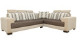 Pacific Corner Sectional Sofa with Lounger in Designer Fabric Upholstery by Star India