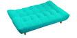 Palermo Sofa cum Bed in Aqua Blue Colour by Furny