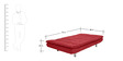Palermo Sofa cum Bed in Red Colour by Furny