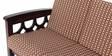 Paolina Three Seater Sofa in Semi Glossy Walnut Color by JFA Touchwood