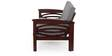 Parker Three Seater Sofa in Semi Glossy Walnut Color by JFA Touchwood