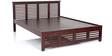 Paulina Queen Bed in Semi Glossy Walnut Color by JFA Touchwood