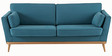 Paxter Three Seater Sofa in Blue Colour by Madesos