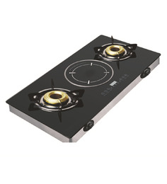 Padmini Hybrid Gas Stove with Induction Cooktop