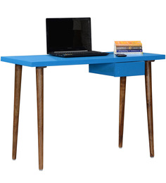 Paloma Study & Laptop Table in Aqua Duco High-gloss Finish by Woodsworth