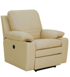 Parso One Seater Motorized Recliner Chair in Buff Colour by Furnitech