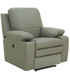 Parso One Seater Motorized Recliner Chair in Grey Colour by Furnitech