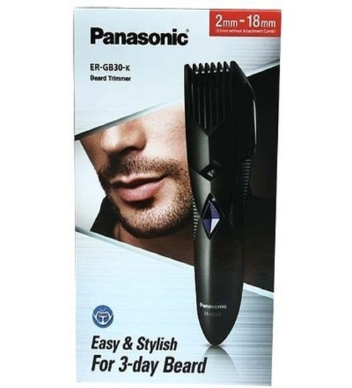 panasonic beard hair trimmer er gb30k black by panasonic online hair clippers trimmers. Black Bedroom Furniture Sets. Home Design Ideas