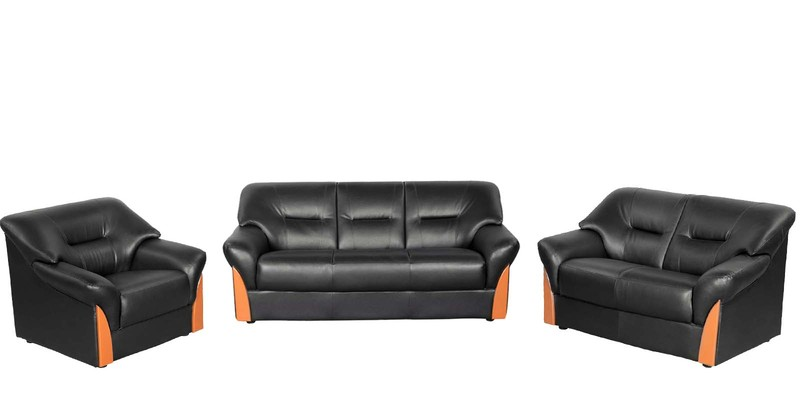 11 Off Parto Sofa Set 3 2 1 Seater In Black Colour By Rej