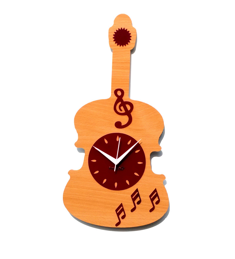 Buy Panache Guitar and Musical Wall Clock from Pepperfry - Save Rs 300