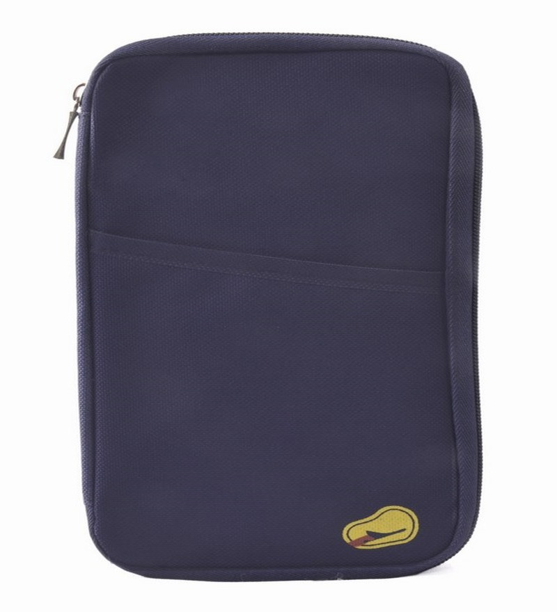 Home Union Passport Id Card Holder Zipper Wallet Multi Purpose Travel Wallet Navy Blue By Home