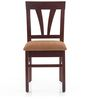 Pacifica Set of 2 Dining Chair in Semi-Glossy Walnut Finish by JFA Touchwood