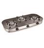 Padmini CS-3 GT RU Crystal Black 3-burner Gas Stove