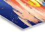 Hashtag Decor Painted Sunset on The Sea Aluminum 17.75 x 17.75 Inch Framed Art Panel