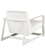 Palecio Arm Chair with Metal Frame in White Colour by CasaCraft