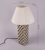 Palmer Table Lamp in White by Bohemiana