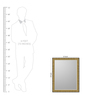 Paloma Minimalist Mirrors in Gold by CasaCraft