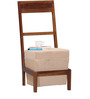 Leavenworth Wood Framed One Seater Chair with Pouffe by Woodsworth