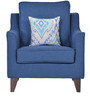 Ithaca Impulse One Seater Sofa with Throw Cushions in Teal Blue Colour by Urban Living