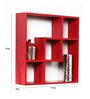 Panama Contemporary Wall Shelf in Red by CasaCraft