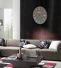 Panash Art Grey Wood & Ply 18 Inch Round Designer Wall Clock
