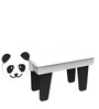 Panda Study Table in Black & White Colour by KuriousKid