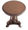 Panja Round Coffee Table in Brown Finish by Maruti Furniture