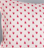 Pannaa Pink Cotton 16 x 16 Inch Vegetable Colour Printed Cushion Cover