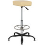 Paris Bar Stool in Cream Color by The Furniture Store