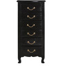 Bourgeois Chest of Drawers in Espresso Walnut Finish by Amberville