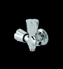 Parryware Diamond Silver Brass Two-Way Angle Valve