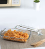 Pasabahce Borcam Rectangular Casserole With Cover 1.5 Ltr