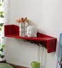 Patricio Contemporary Wall Shelf in Red by CasaCraft
