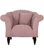 Paulina One Seater Sofa in Salmon Pink Colour by CasaCraft