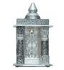 Pavitra Mandir Silver Wood & Aluminium Small Oxidize Carving Temple