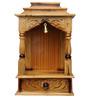 Pavitra Mandir Yellow Teak Wood Carving Temple