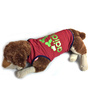 Pawzone Maroon with Green Dazzling T Shirt for Dogs-18 inch