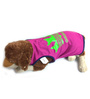 Pawzone Purple With Green T Shirt for Dogs-16 inch