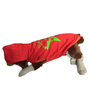 Pawzone Red CV Star T Shirt for Dogs- 14 inch