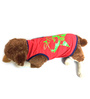 Pawzone Red CV Star T Shirt for Dogs- 16 inch